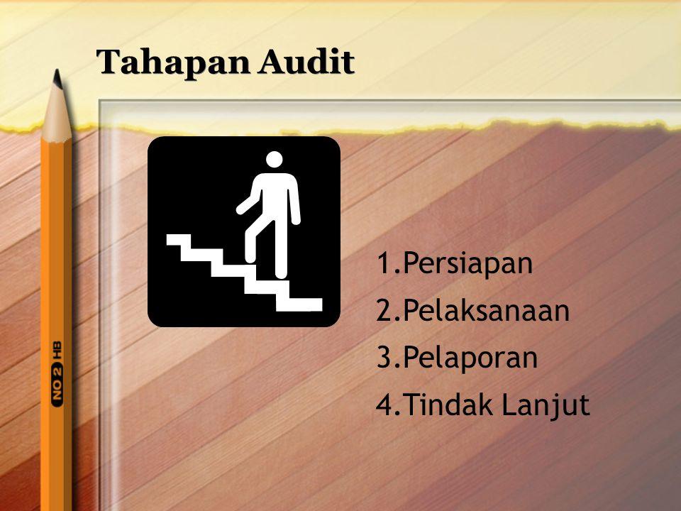 Tahapan Audit Persiapan Pelaksanaan Pelaporan Tindak Lanjut
