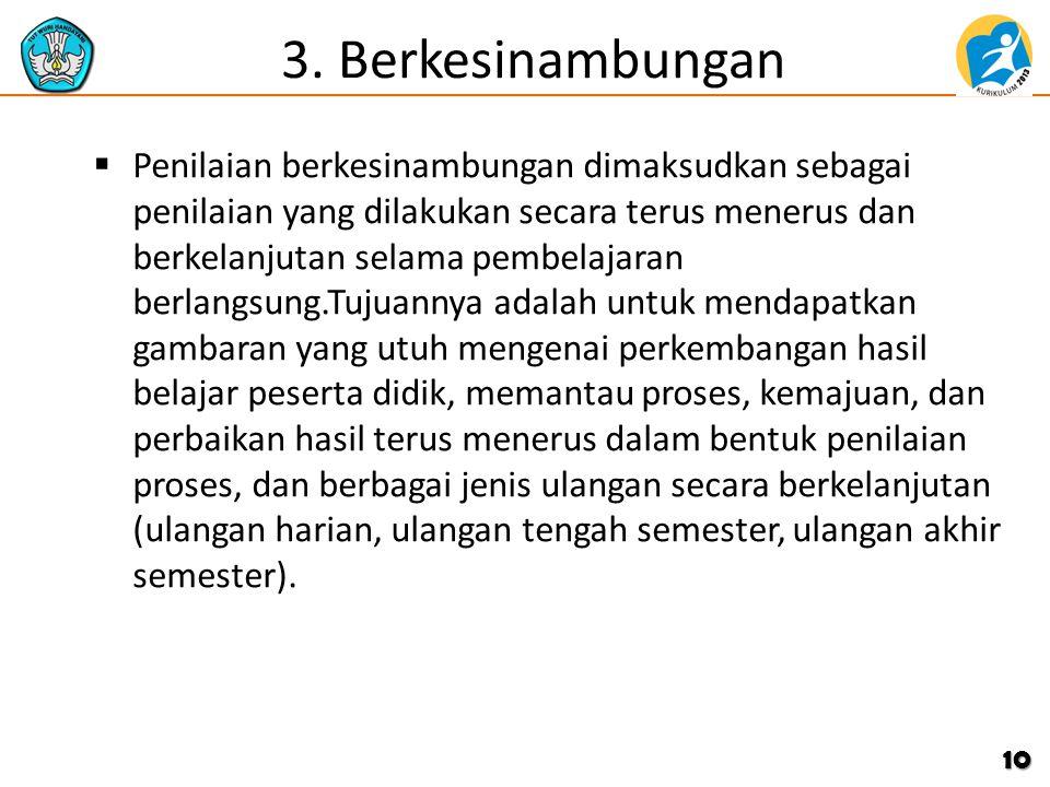 3. Berkesinambungan