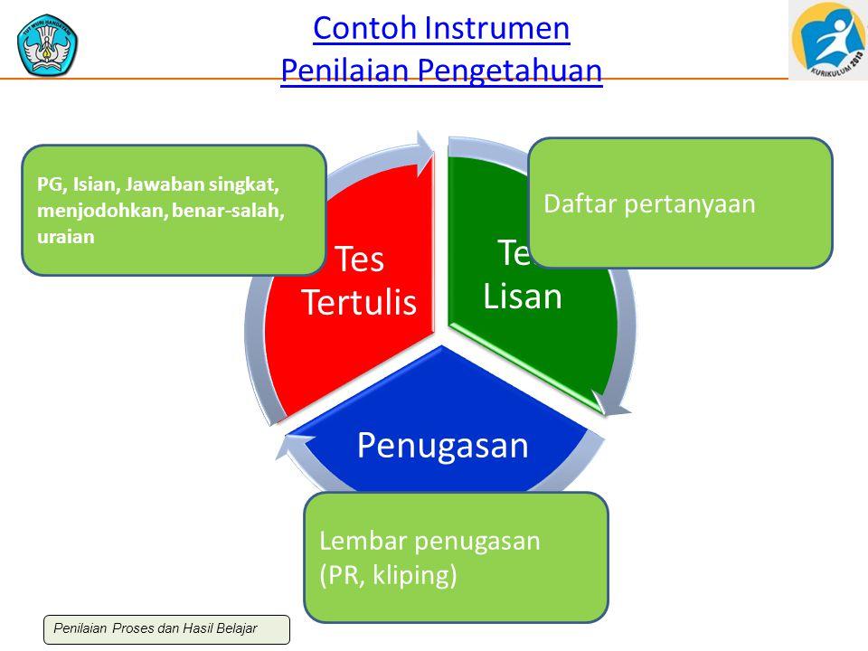 Contoh Instrumen Penilaian Pengetahuan