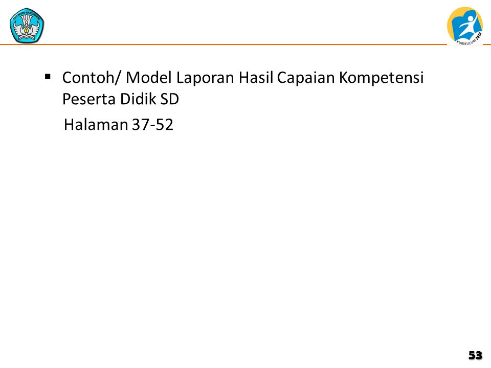 Contoh/ Model Laporan Hasil Capaian Kompetensi Peserta Didik SD