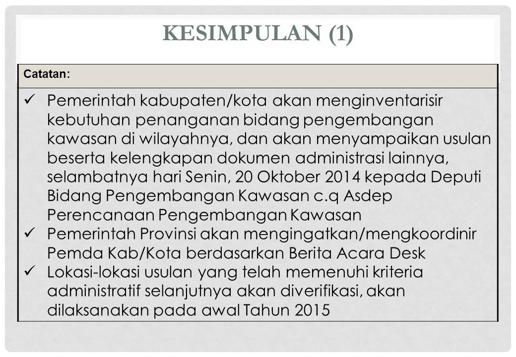 KESIMPULAN (1) Catatan: