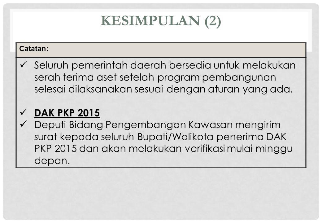 KESIMPULAN (2) Catatan: