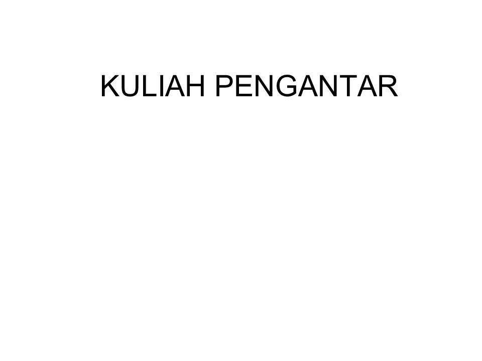 KULIAH PENGANTAR