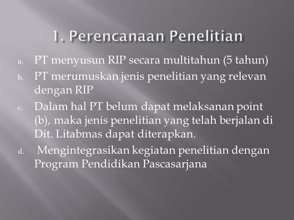1. Perencanaan Penelitian