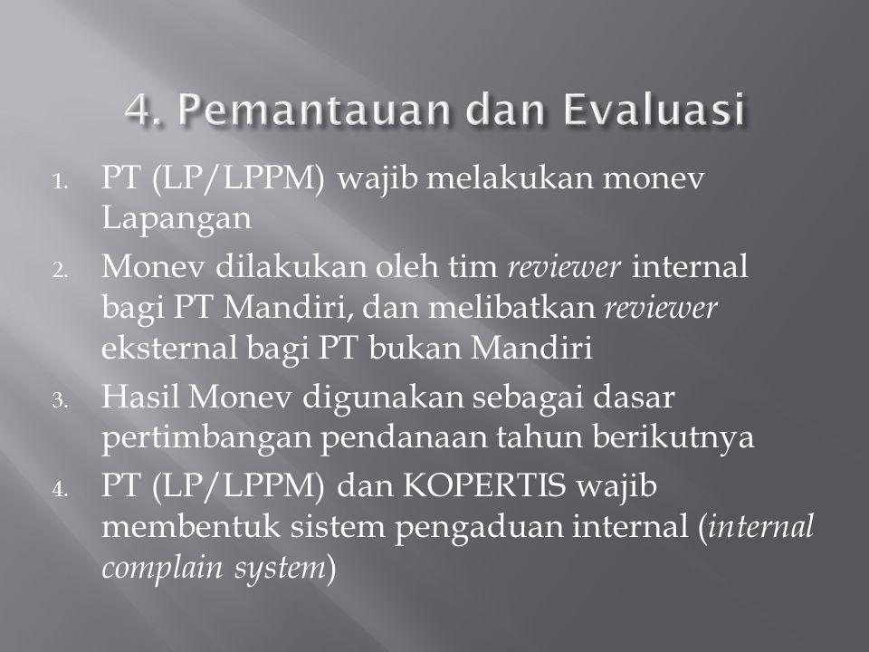 4. Pemantauan dan Evaluasi