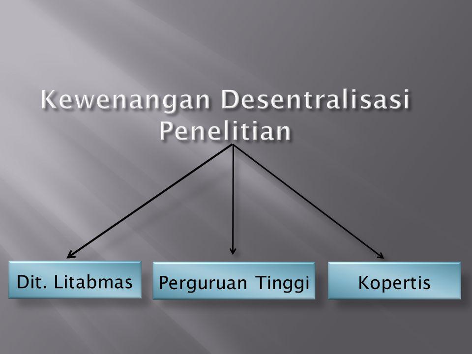 Kewenangan Desentralisasi Penelitian