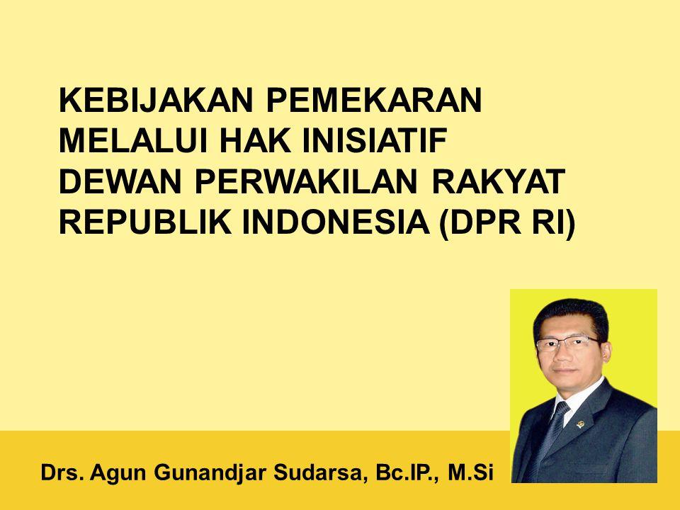 Drs. Agun Gunandjar Sudarsa, Bc.IP., M.Si
