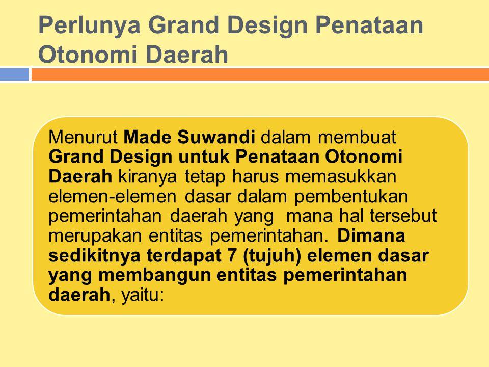 Perlunya Grand Design Penataan Otonomi Daerah