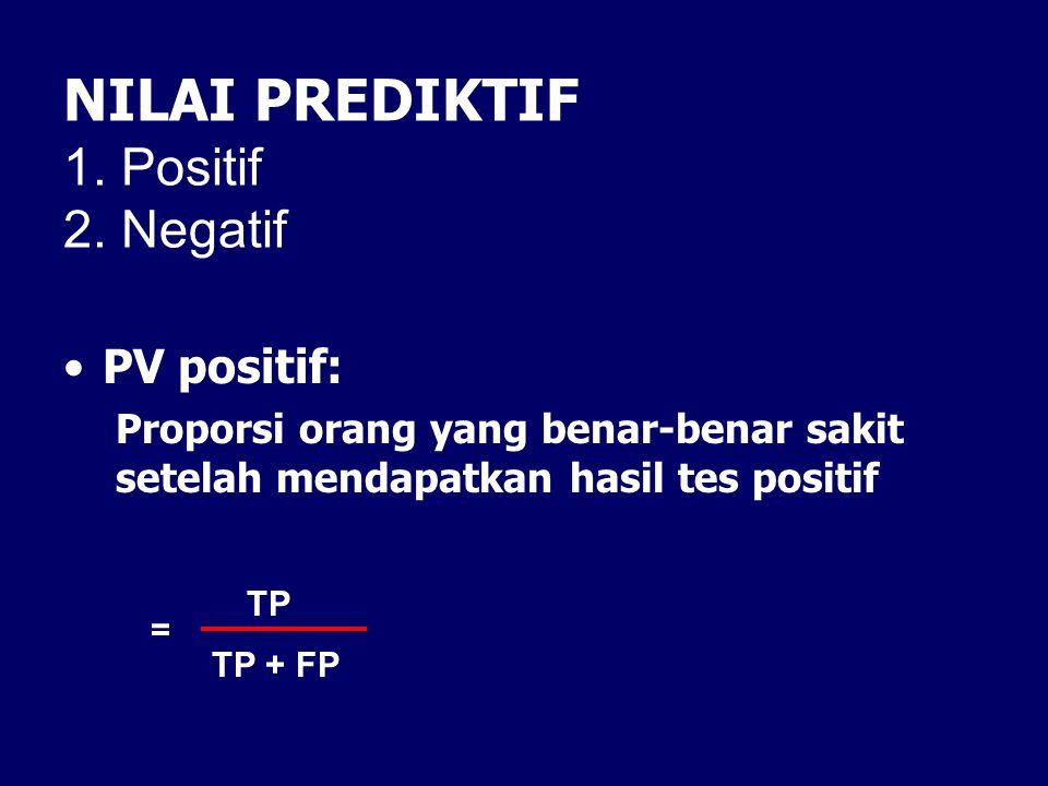NILAI PREDIKTIF 1. Positif 2. Negatif