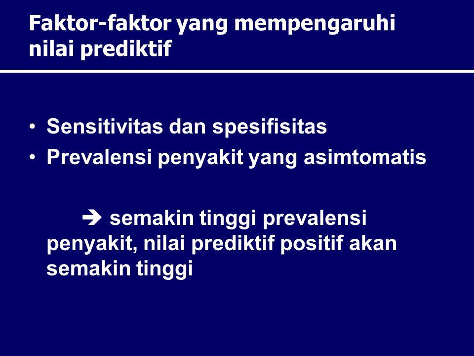 Faktor-faktor yang mempengaruhi nilai prediktif