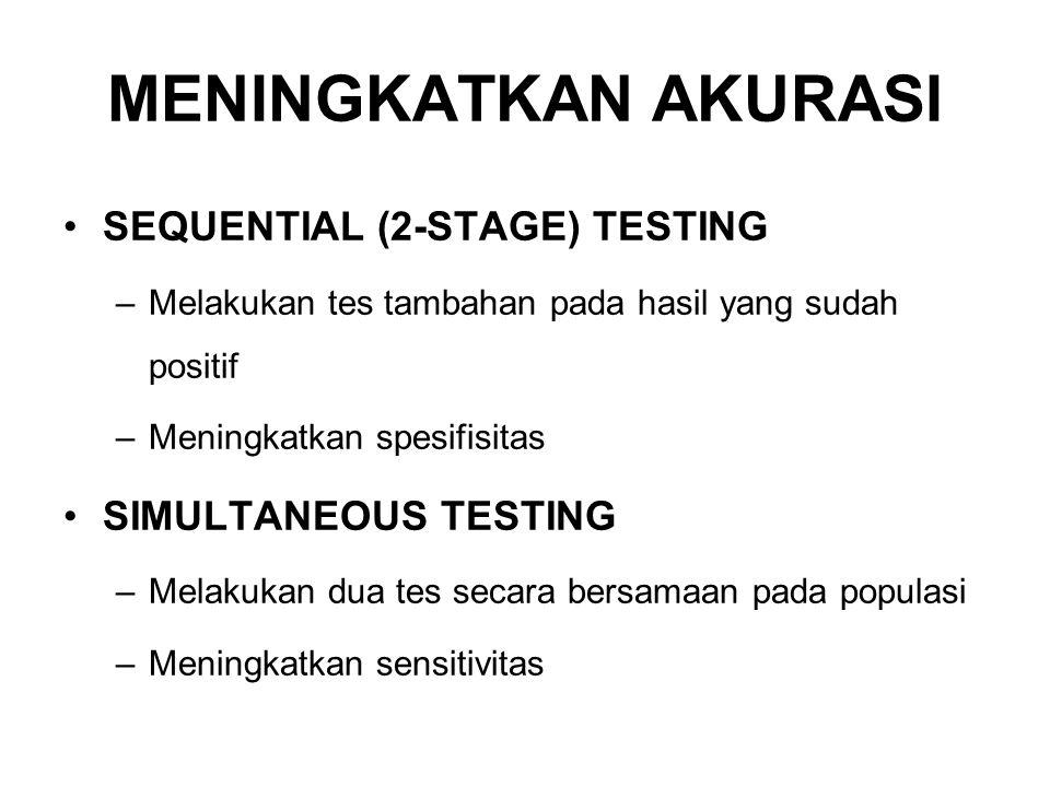 MENINGKATKAN AKURASI SEQUENTIAL (2-STAGE) TESTING SIMULTANEOUS TESTING