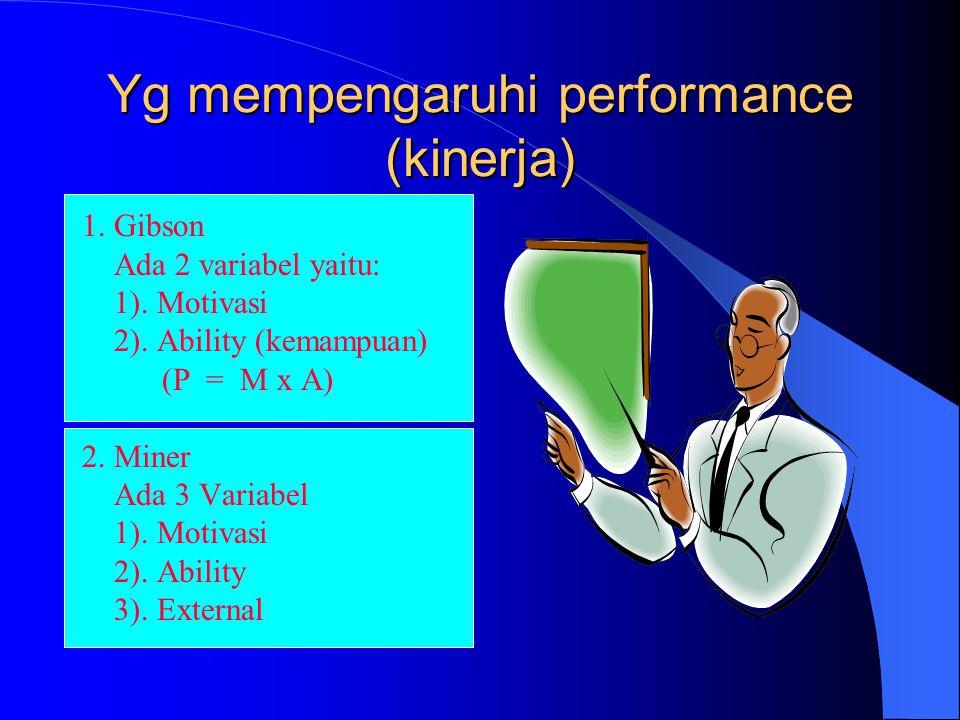 Yg mempengaruhi performance (kinerja)
