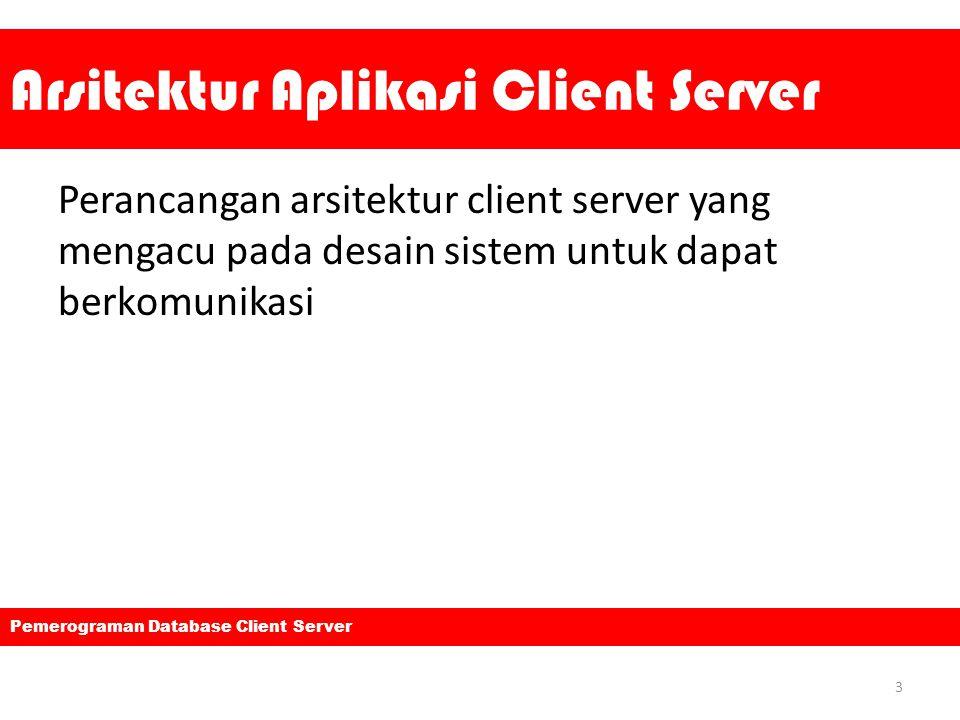 Arsitektur Aplikasi Client Server