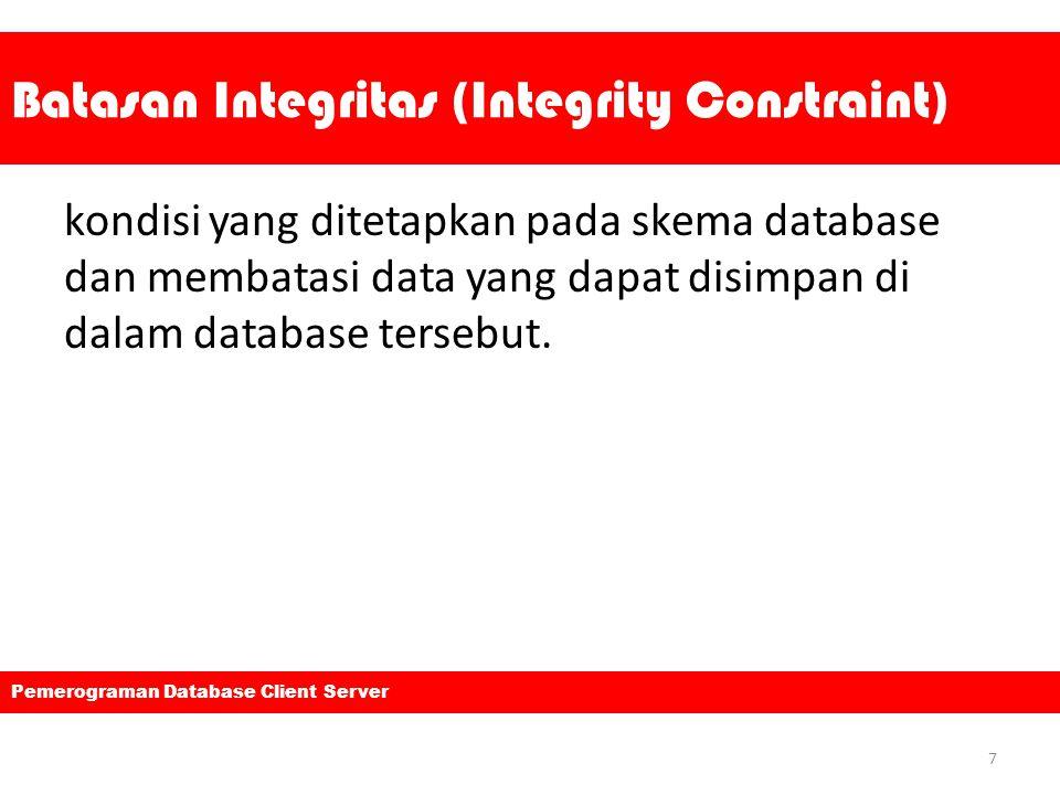 Batasan Integritas (Integrity Constraint)