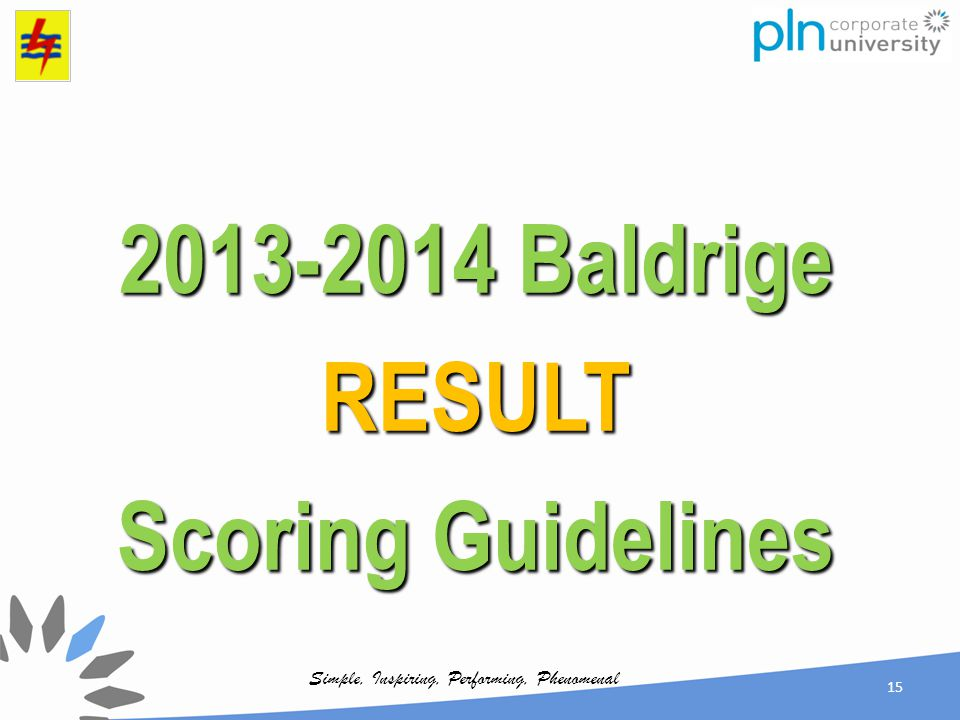 2013-2014 Baldrige RESULT Scoring Guidelines
