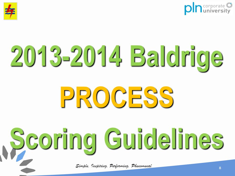 2013-2014 Baldrige PROCESS Scoring Guidelines