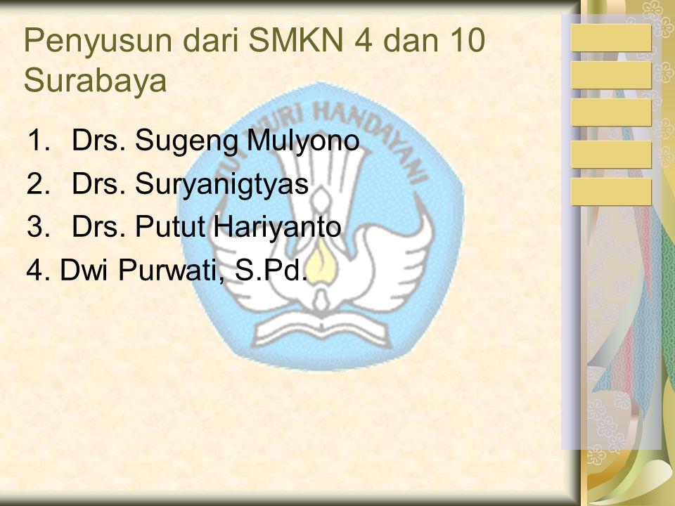 Penyusun dari SMKN 4 dan 10 Surabaya