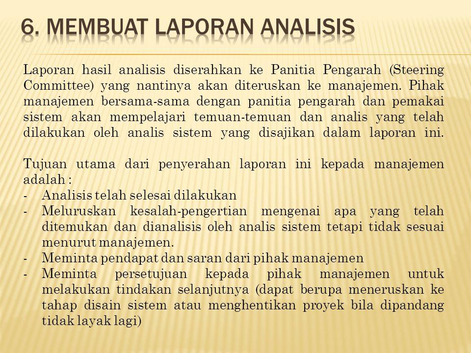 6. Membuat laporan analisis