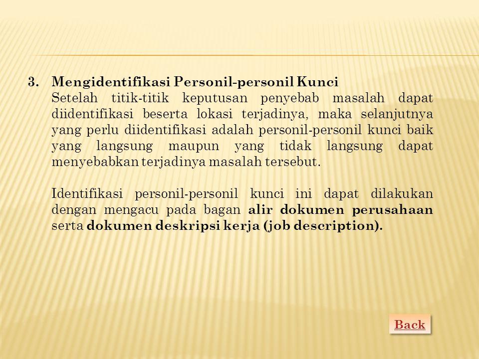 Mengidentifikasi Personil-personil Kunci