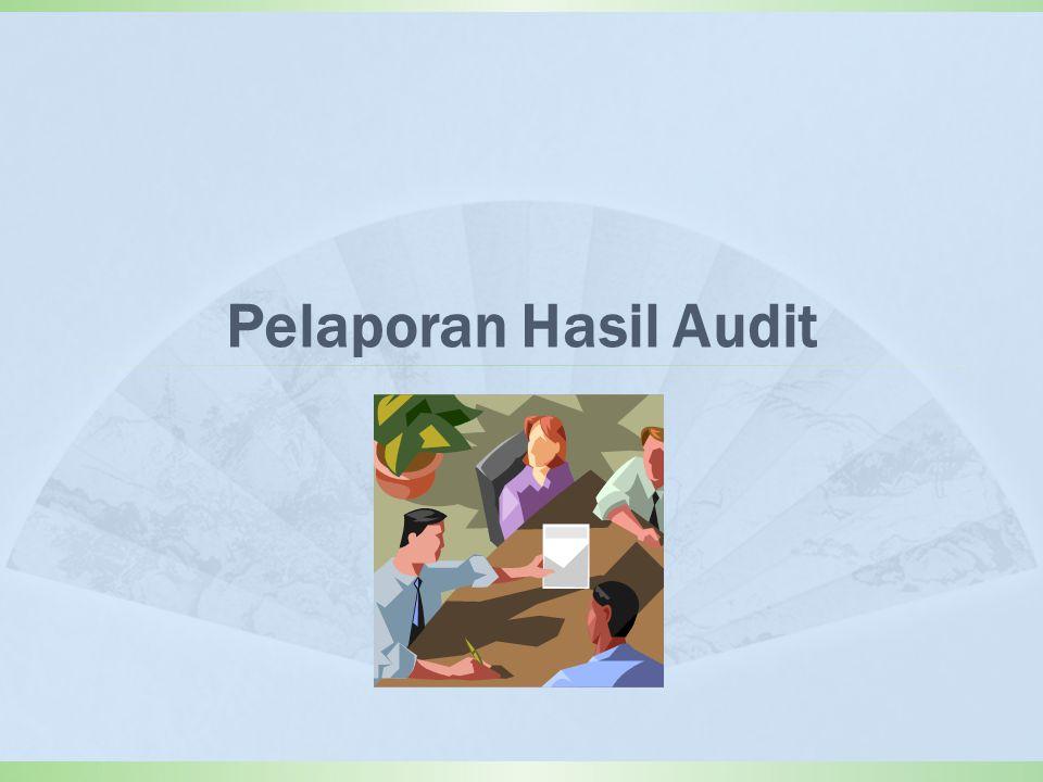 Pelaporan Hasil Audit