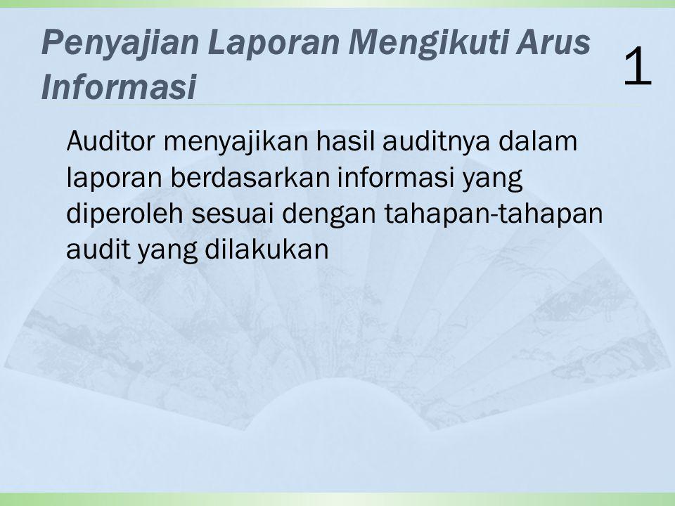 Penyajian Laporan Mengikuti Arus Informasi