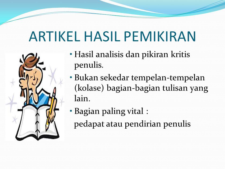 ARTIKEL HASIL PEMIKIRAN