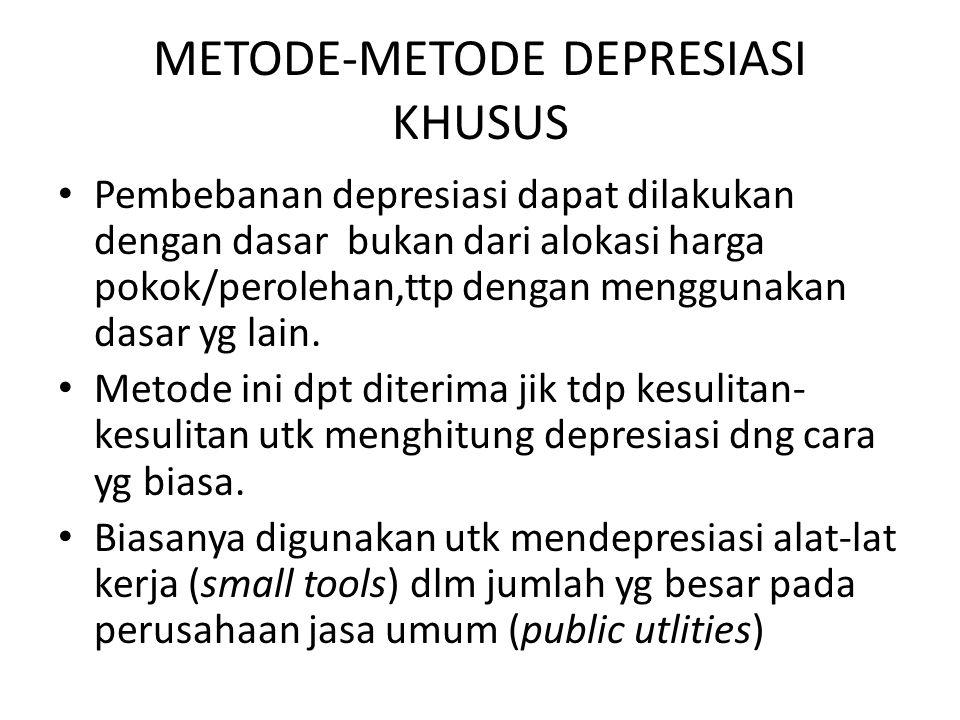 METODE-METODE DEPRESIASI KHUSUS