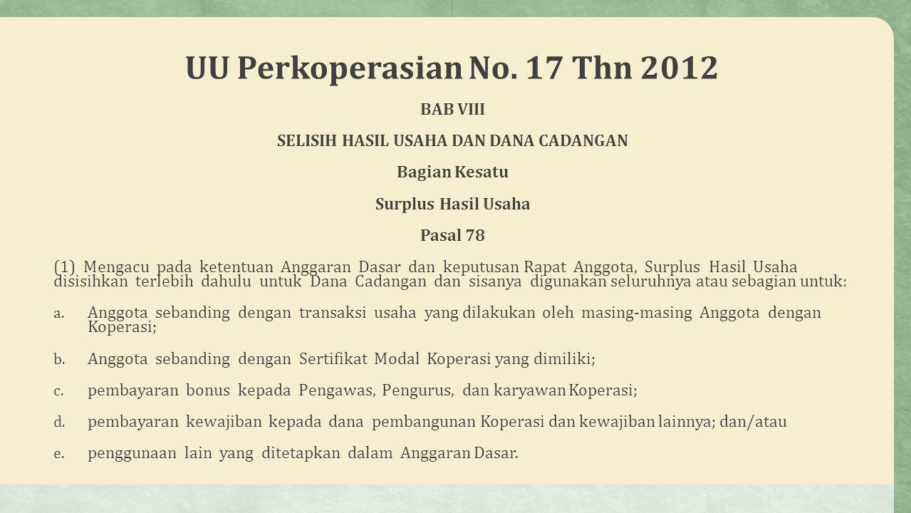 UU Perkoperasian No. 17 Thn 2012