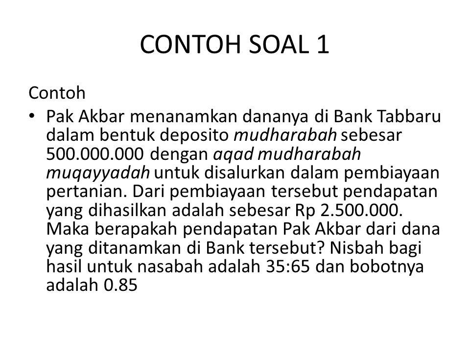 CONTOH SOAL 1 Contoh.