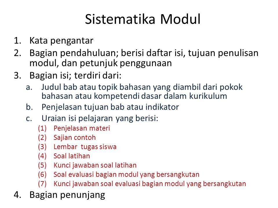 Sistematika Modul Kata pengantar