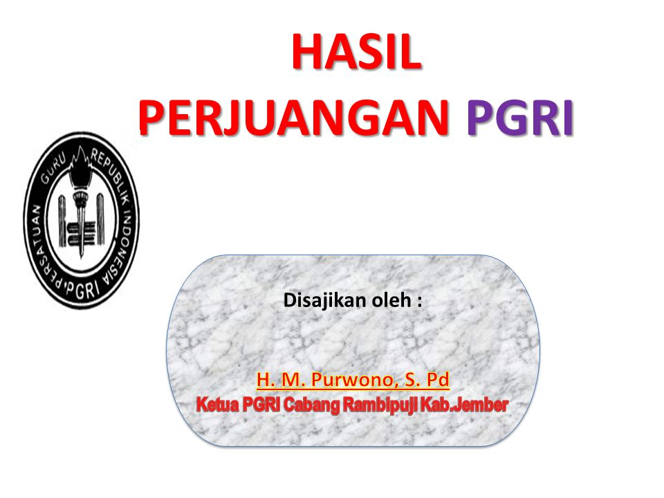 Ketua PGRI Cabang Rambipuji Kab.Jember