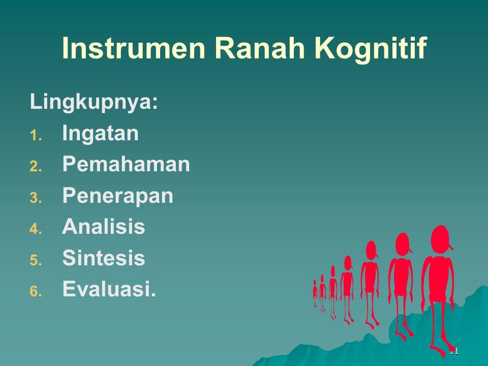 Instrumen Ranah Kognitif
