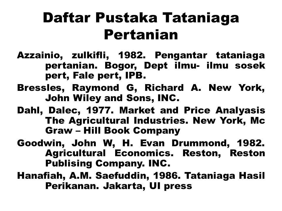 Daftar Pustaka Tataniaga Pertanian