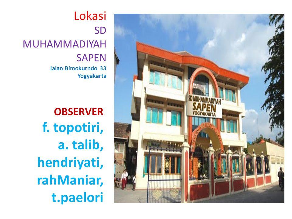 Lokasi SD MUHAMMADIYAH SAPEN Jalan Bimokurndo 33 Yogyakarta