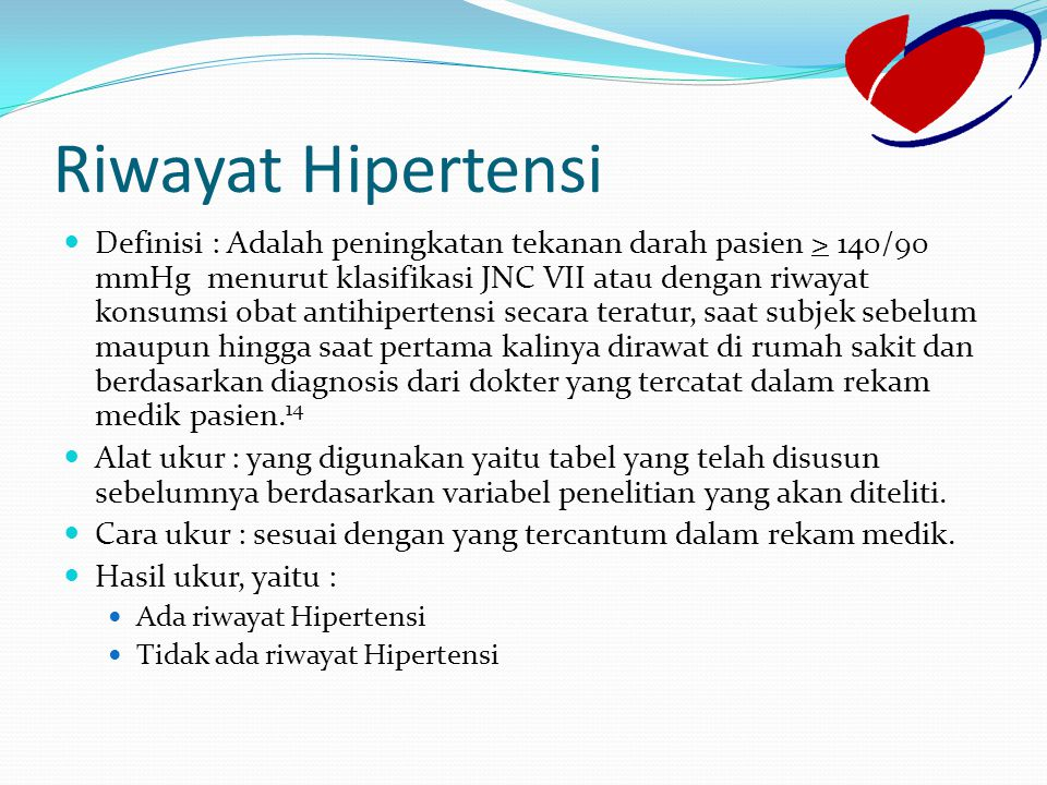 Riwayat Hipertensi