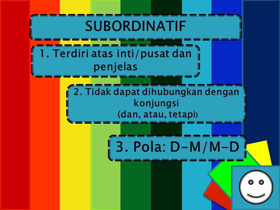 SUBORDINATIF 3. Pola: D-M/M-D