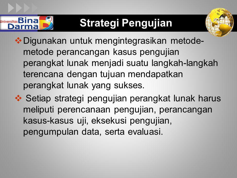 Strategi Pengujian
