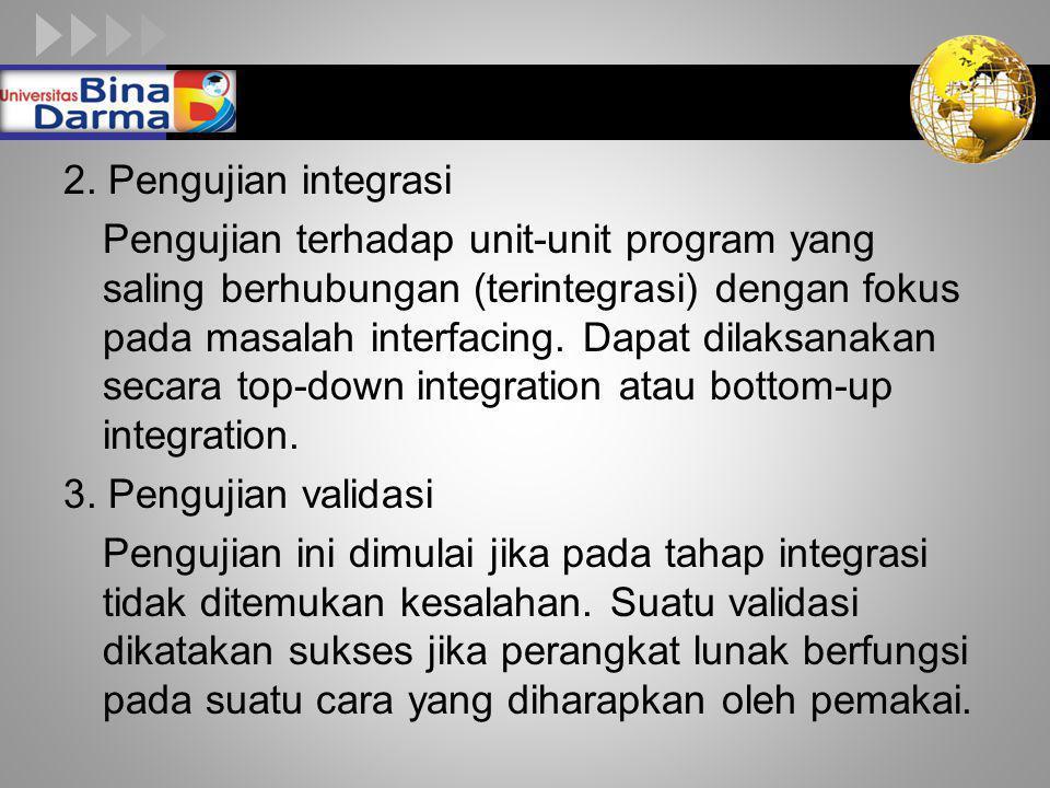 2. Pengujian integrasi