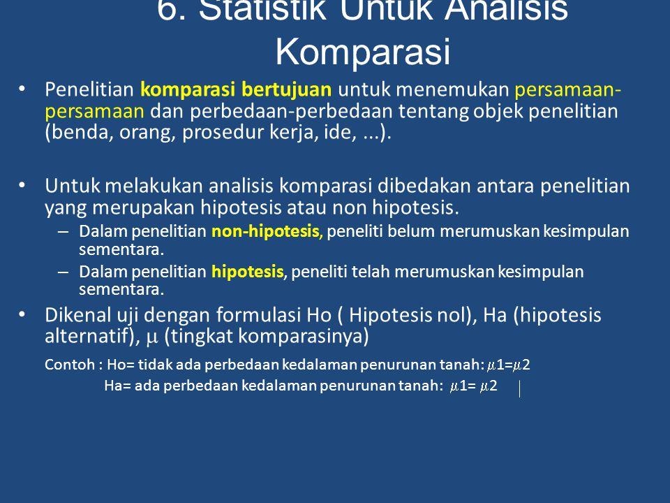 6. Statistik Untuk Analisis Komparasi