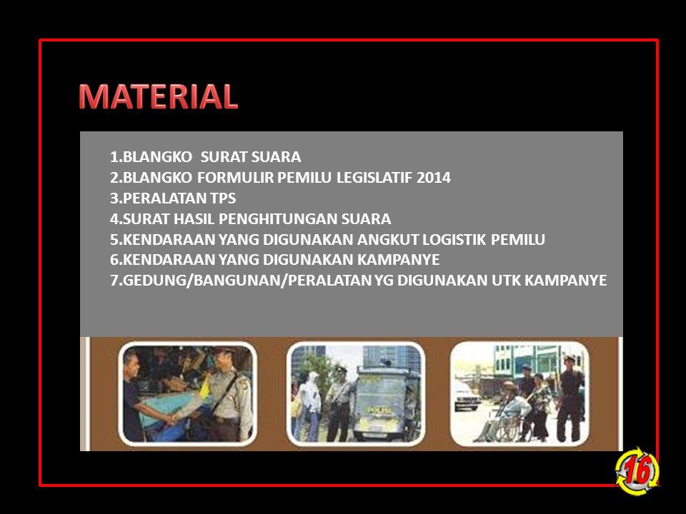 MATERIAL 16 1.BLANGKO SURAT SUARA