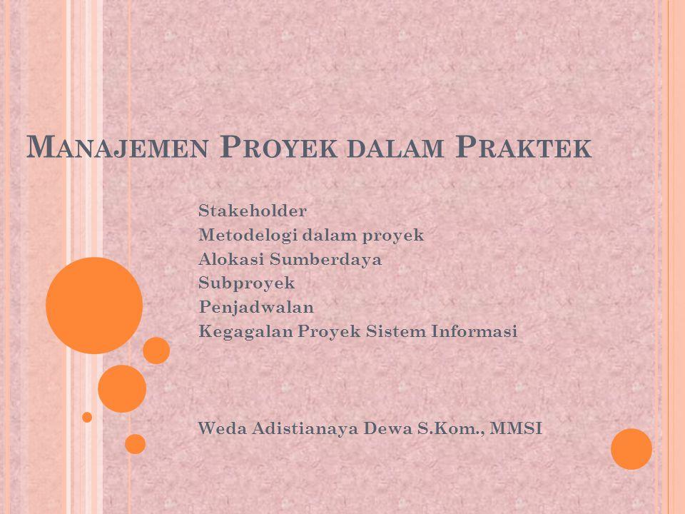 Manajemen Proyek dalam Praktek