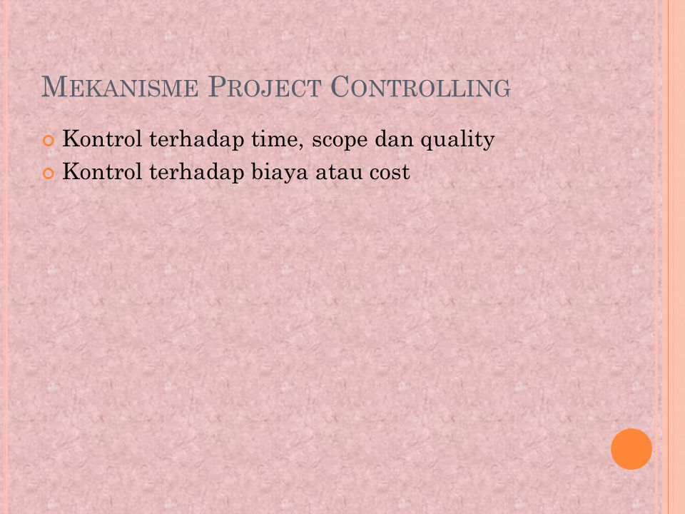 Mekanisme Project Controlling