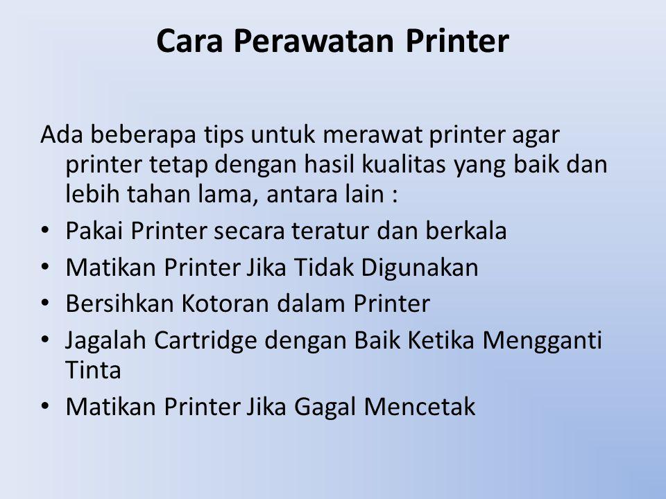Cara Perawatan Printer