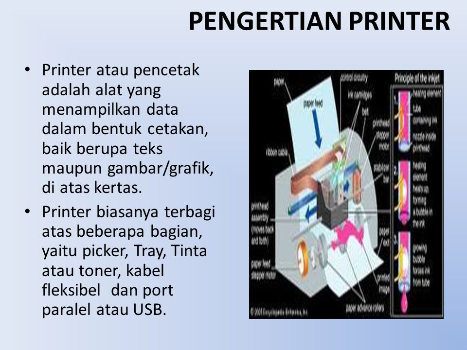 PENGERTIAN PRINTER