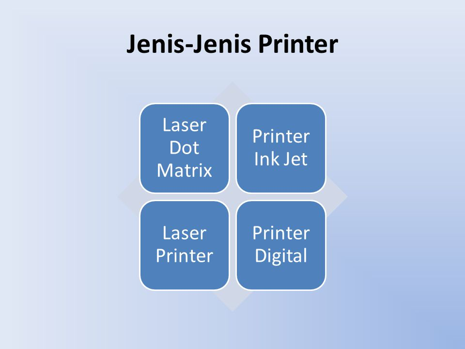 Jenis-Jenis Printer Laser Dot Matrix Printer Ink Jet Laser Printer