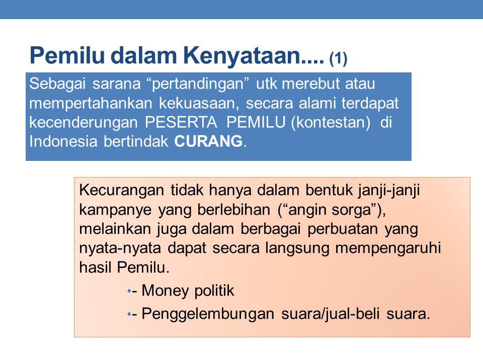 Pemilu dalam Kenyataan.... (1)