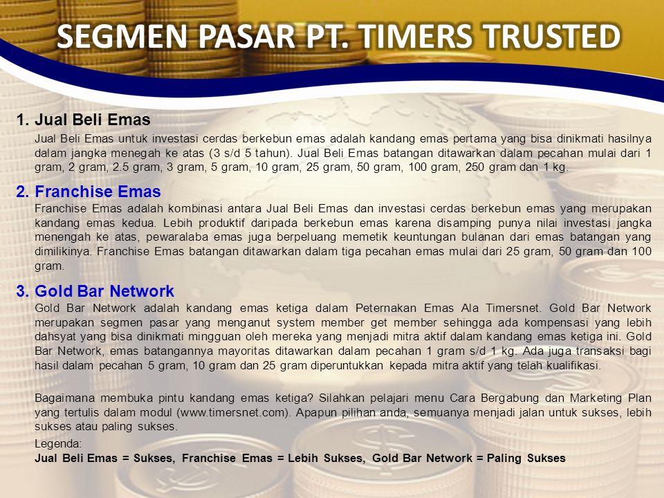 SEGMEN PASAR PT. TIMERS TRUSTED