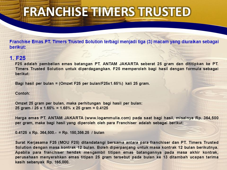 FRANCHISE TIMERS TRUSTED