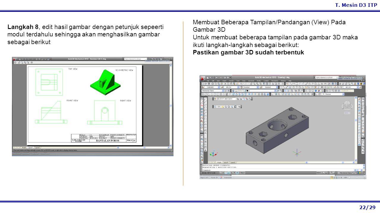 Membuat Beberapa Tampilan/Pandangan (View) Pada Gambar 3D