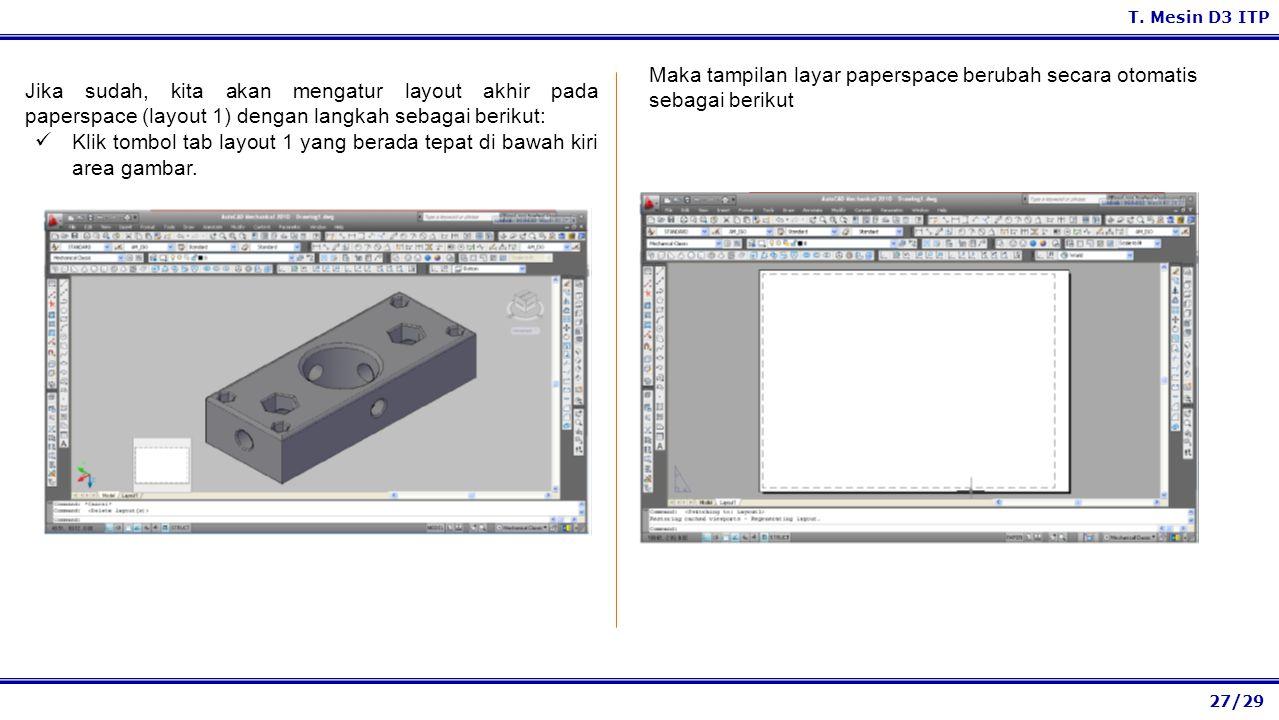 Maka tampilan layar paperspace berubah secara otomatis sebagai berikut